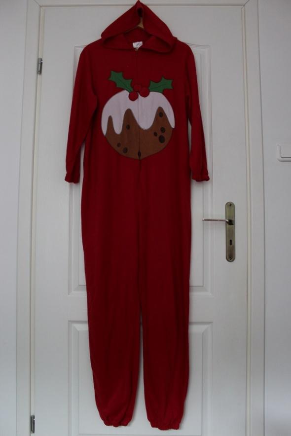 Kombinezony kombinezon świąteczny czerwony piżama pidżama