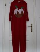 kombinezon świąteczny czerwony piżama pidżama...