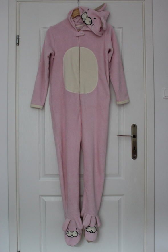 Kombinezony kombinezon różowy królik dziecięcy piżama pidżama