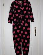 kombinezon różowy serduszka dziecięcy piżama pidżama...
