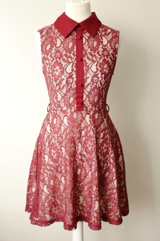 Koronkowa sukienka S