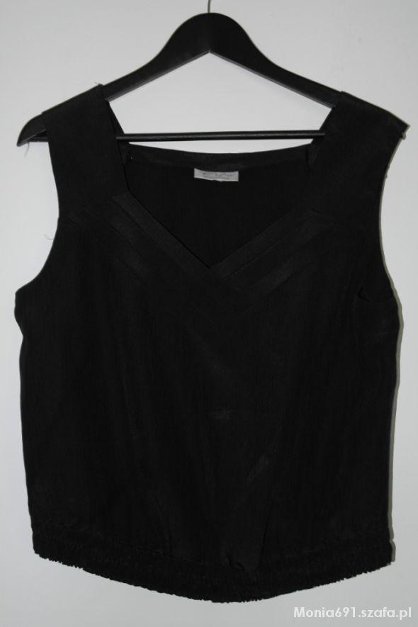 Czarny top bluzka z dekoltem r 42 44