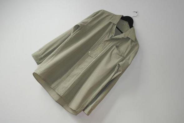 Bawełniana beżowa koszula na guziki r 46