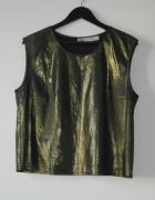 bluzka bez rękawków imprezowa złota r 42