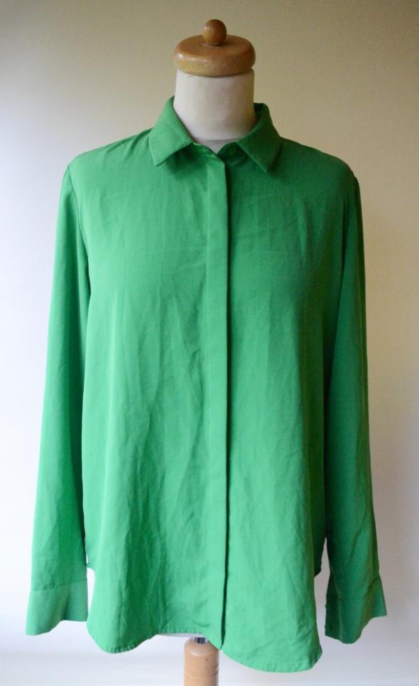 Koszula Zielona Elegancka H&M L 40 Oversize Pracy