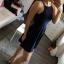 Granatowa sukienka SINSAY M