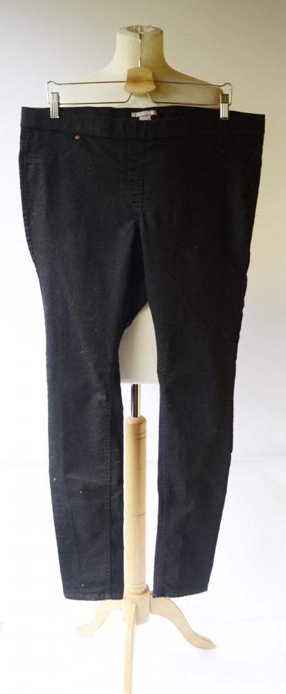 Spodnie Tregginsy Czarne H&M 48 4XL Rurki Czerń...