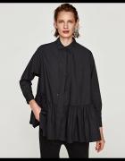 Nowa Zara koszula z popeliny czarna falbanka...