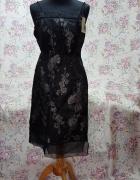 Sukienka z czarnej organzy szyfonu