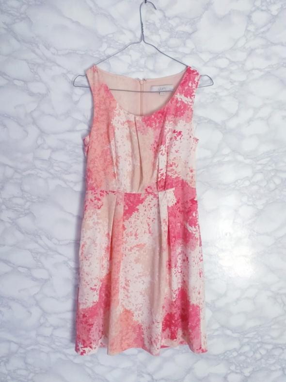 Ann Taylor Loft nowa zwiewna sukienka w kwiaty floral różowa xs s