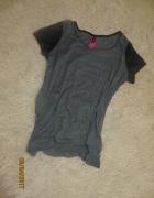 Koszulka skórzane rękawy