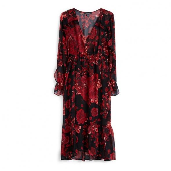 Sukienka w czerwone kwiaty Primark...