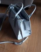 Duża błękitna torebka pasek New Yorker...