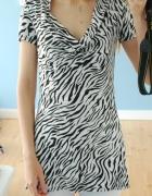 tunika zebra sukienka...
