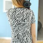 tunika zebra sukienka