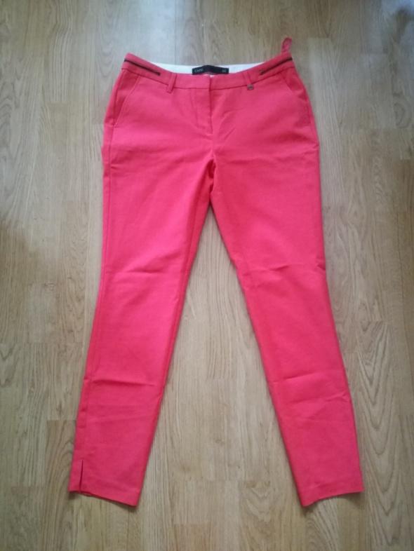 Koralowe spodnie eleganckie rozmiar 40