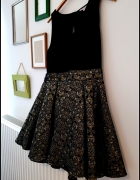 Czarno złota sukienka haftowana złota nitka r 40...