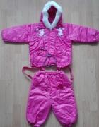 Kombinezon zima jesień dla dziewczynki ok 3 latka dwuczęsciowy...