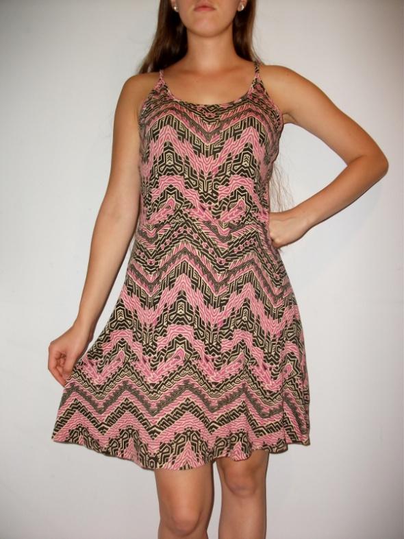 Suknie i sukienki Sukienka geometryczne wzory boho na lato S M