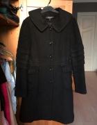 Czarny płaszcz wełna kaszmir alpaka Max Mara 40 L...
