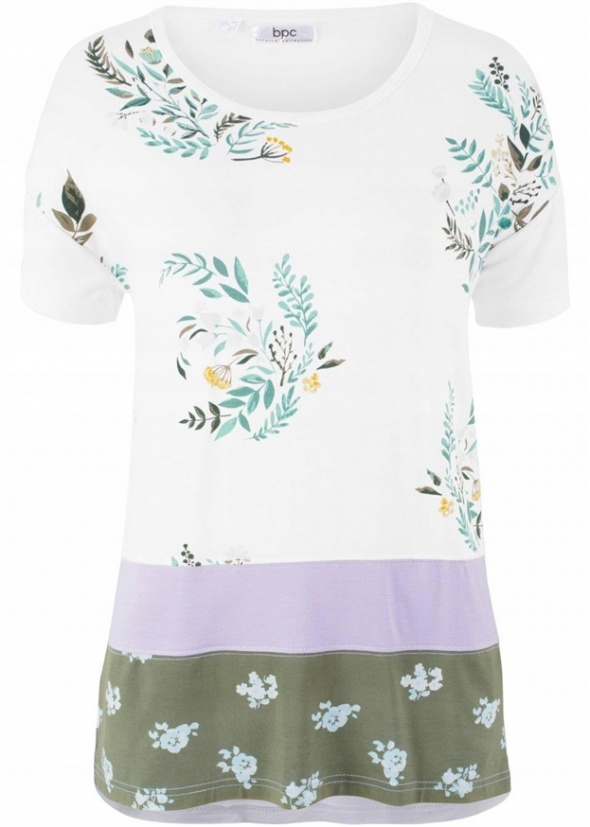 Bluzki Tshirt kolory i wzory patchwork styl 38