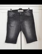 Męskie krótkie spodenki szorty jeansowe skinny M...