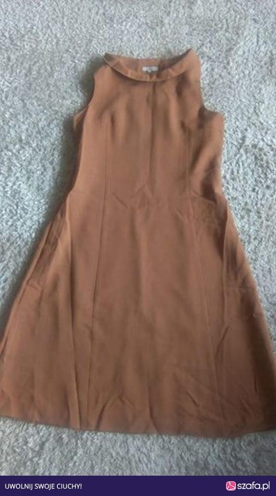 Karmelowa sukienka L