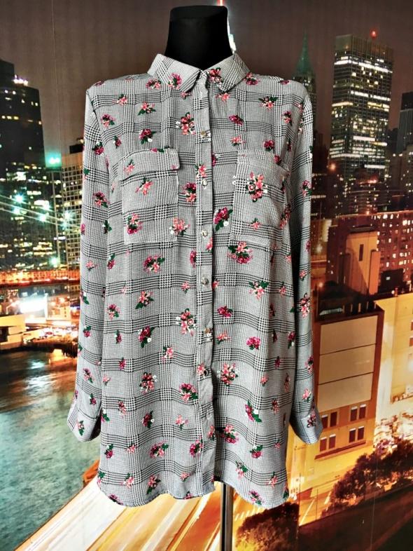 primark koszula nowa modna kratka kwiaty hit blog 46...