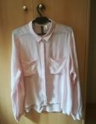 Bladoróżowa koszula z długim rękawem 42 H&M...