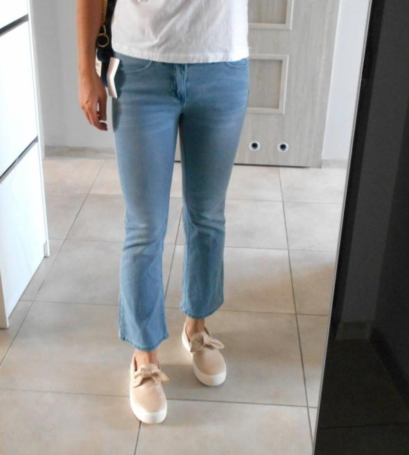 Kappahl nowe jasne jeansy flare jeans spodnie...