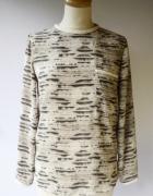Bluzka Zara Basic S 36 Skóra Węża Wzór Elegancka Koszulka...