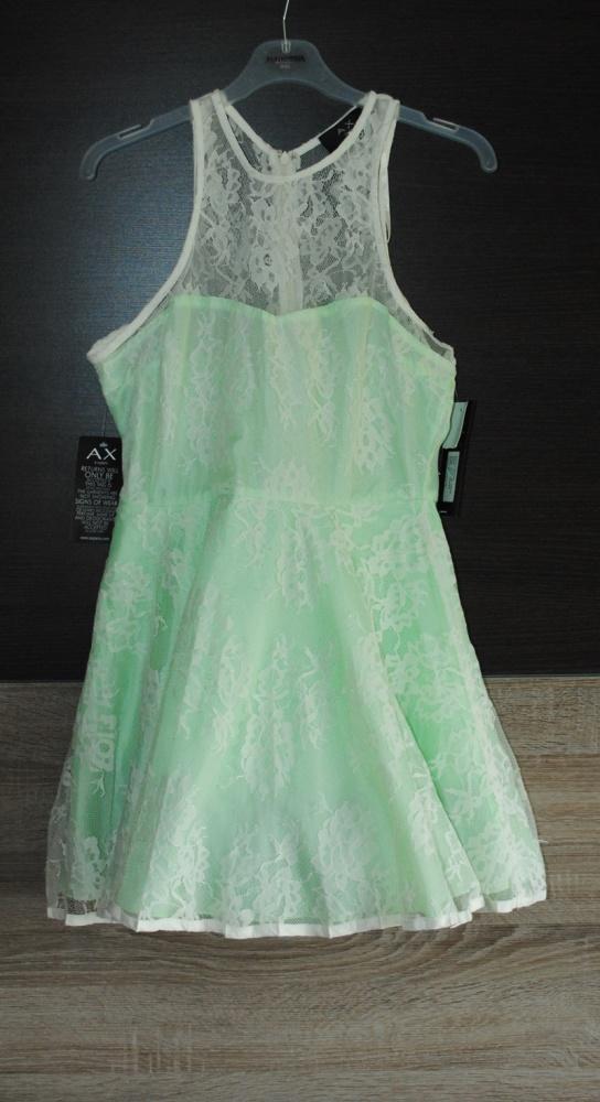 Zielona koronkowa sukienka ax paris 12 m l...