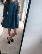 sukienka jeansowa rozkloszowana asos...
