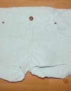 jeans krótkie jasne spodenki...