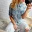 Marmurkowa koszula guziki MEGA
