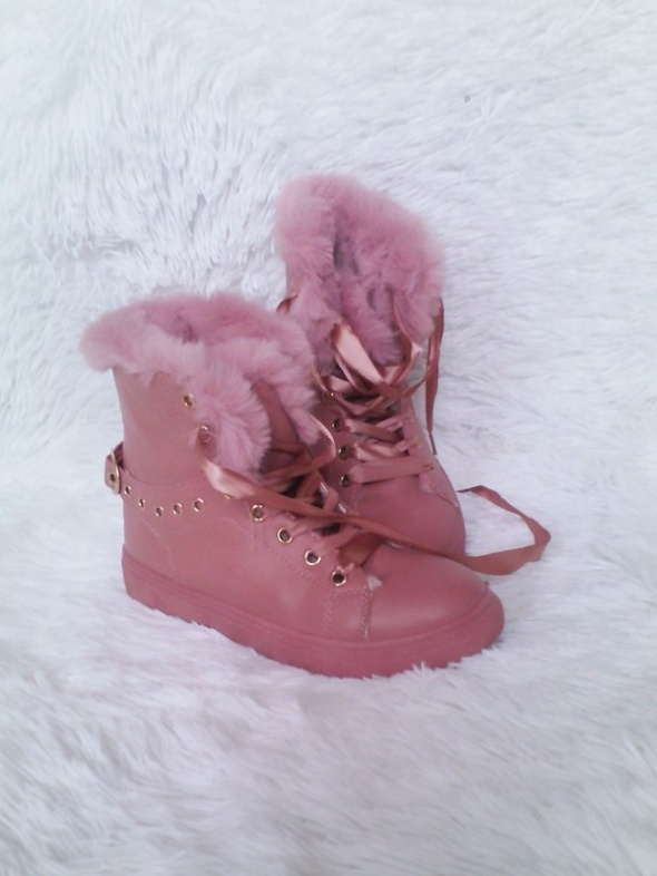 Buty traperki róż