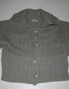 PAPAYA uniwersalny swetr siwy miękki ręk 3 4 M L...