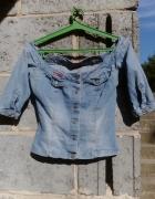 Kurtka katana jeansowa jasny jeans