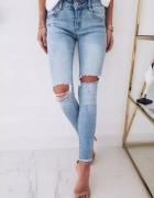 Spodnie jasny jeans...