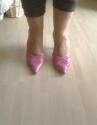 Asymetryczne czółenka na szpilce różowe Dorothy Perkins roz 5 3...