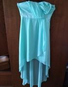 Miętowa sukienka rozmiar 38...