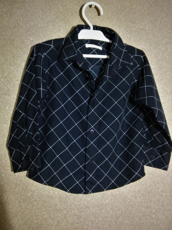 Czarna chłopięca elegancka koszula w kratę 98 104 cm 3 4 lata