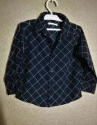 Czarna chłopięca elegancka koszula w kratę 98 104 cm 3 4 lata...