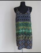 Sukienka lekka na ramiączkach bardzo kolorowa wzory 40 i 42...