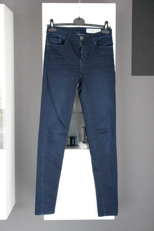jeansy rurki dżinsy granatowe klasyczne elastyczne skinny