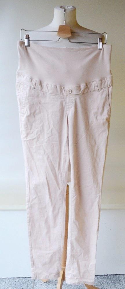 Spodnie H&M Mama L 40 Róż Pudrowy Róż Rurki Ciąża...