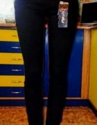 Spodnie rurki czarno bordowe wysoki stan...