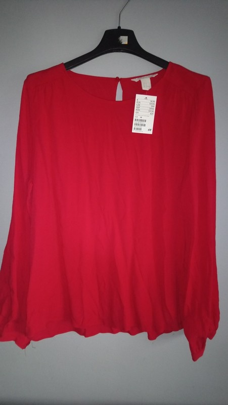 Czerwona bluzka H&M...