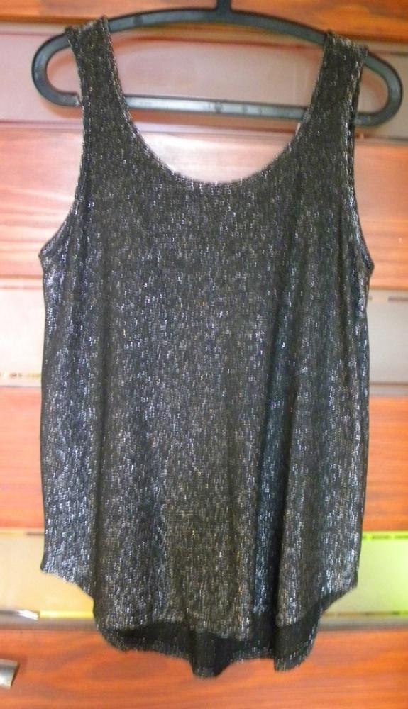Bluzki bluzka Next czarna ze srebrną nitką L XL