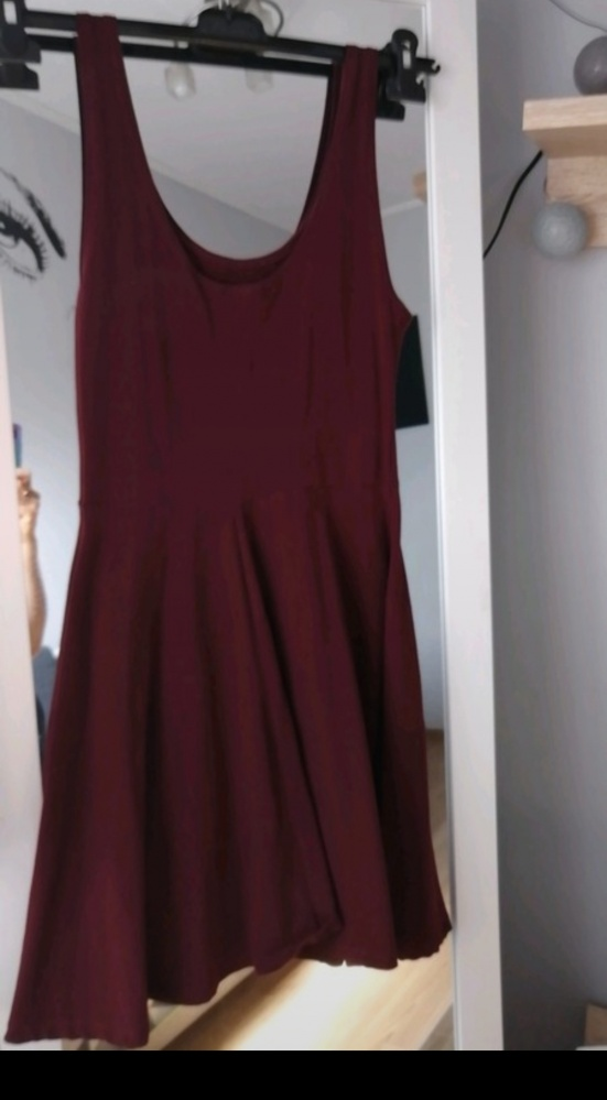 Sukienka burgund bordowa dress